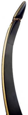 Galaxy Black Ridge One-Piece Recurve Bow tip