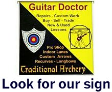 Street sign for Traditional Archery Supply